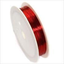 Fil de Cuivre 0,40mm – 17 mètres Rouge pour Bijoux et Loisir Créatif