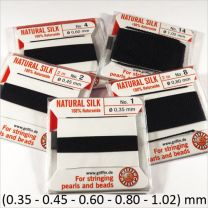 Fil de soie 100% naturelle Noir