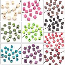 Perles Cubes en Bois 8mm - Lot de 40 pcs