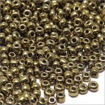 Perles de Rocailles en Verre Opaque 2mm Bronze Luisant