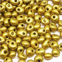 Perles de Rocailles en Verre Opaque 4mm Doré
