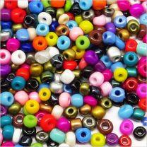 Lot de Perles de Rocailles en Verre Opaque 4mm