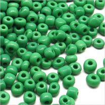 Perles de Rocailles en Verre Opaque 4mm Vert