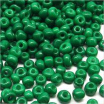 Perles de Rocailles en Verre Opaque 4mm Vert Malachite