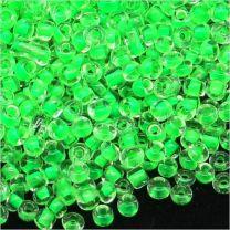 Perles de Rocailles en Verre 2mm Transparent Centre Fuchsia