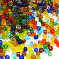 Perles de Rocailles en verre Transparent 4mm Mix