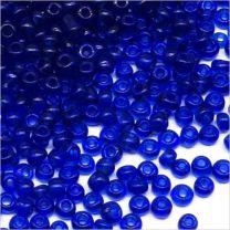 Perles de Rocailles en verre Transparent 2mm Bleu violette