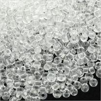 Perles de Rocailles en verre Transparent 2mm Cristal - 20g environ 1600 pcs