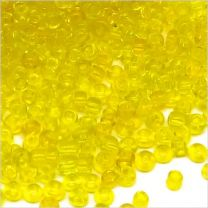 Perles de Rocailles en verre Transparent 2mm jaune