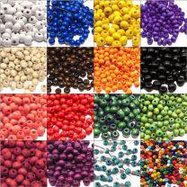 Perles en Bois 6mm Plusieurs couleurs au choix