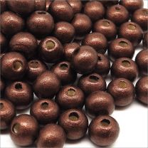 Perles en Bois 8mm Marron Nacrée