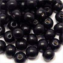 Perles en Bois 8mm Noir