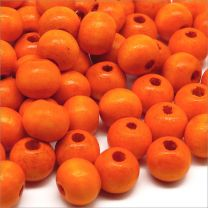Perles en Bois 8mm Orange