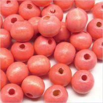 Perles Rondes en Bois 8mm Rouge