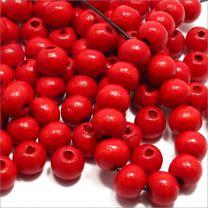 Perles Rondes en Bois 8mm Rouge-Brun