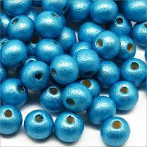 Perles en Bois 8mm Turquoise