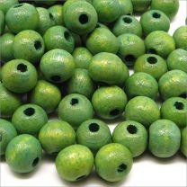 Perles en Bois 8mm Vert-Jaune