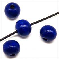 Perles en Bois 10mm Bleu