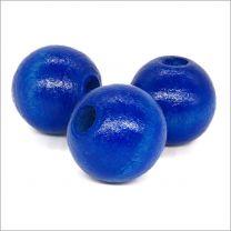 Perles Rondes En Bois 14mm Bleu