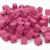 Perles Cubes en Bois 6mm Marron foncé