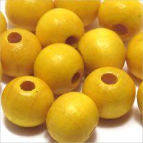 Perles en Bois 10mm Jaune