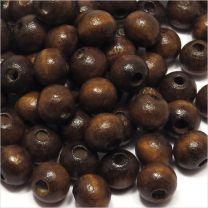Perles en Bois 8mm Marron foncé