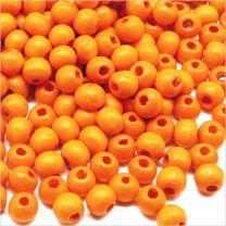 Perles Ronde en Bois d'érable 6mm Orange