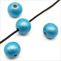 Perles en Bois 10mm Turquoise