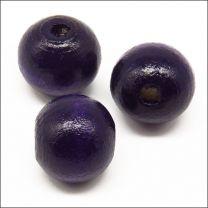 Perles en Bois 12mm Violet