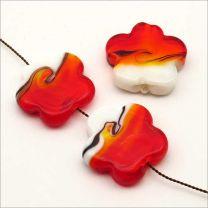 Perles Artisanales Fleurs en Verre Lampwork 25mm