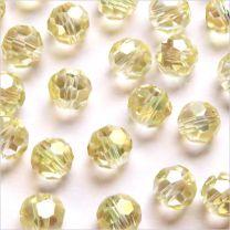 Perles à FACETTES 8mm en Cristal de Bohème Champagne