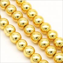 Perles hématite 8mm Doré