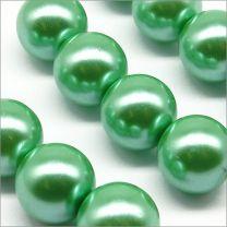 Perles Nacrées en Verre 12mm Rouge