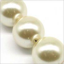 Perles Nacrées en Verre 16mm Noir