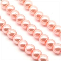 Perles Nacrées en Verre de Bohème 4mm Rose