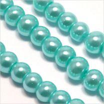 Perles Nacrées en Verre de Bohème 4mm Anthracite