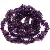 Fil de perles pierres naturelles Nuggets Améthyste
