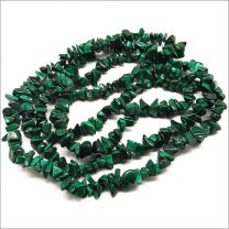 Fil de perles pierres naturelles Nuggets Malachite