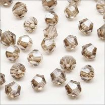 Perles Tchèque Toupies en Cristal 4mm Black Diamond