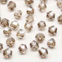 Perles Tchèque Toupies en Cristal 4mm Black Diamond