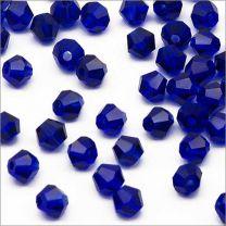 Perles Tchèque Toupies en Cristal 4mm Marron Irisé