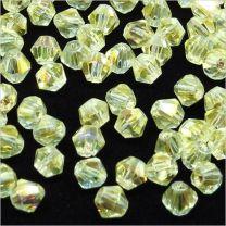 Perles Tchèque Toupies en Cristal 4mm Champagne